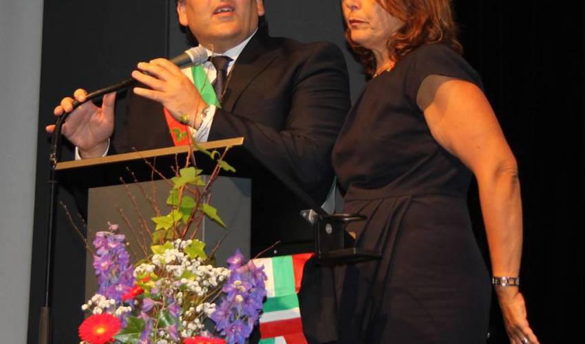 Eine Festrede hielt der Bürgermeister von San Biagio Platani, Santo Sabella, bei der Jubiläumsfeier 40 Jahre Remchingen im Jahr 2015. Foto: Zachmann